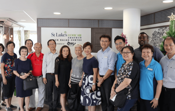 Ms Foo Mee Har's visit to St Luke's ElderCare Ayer Rajah Centre