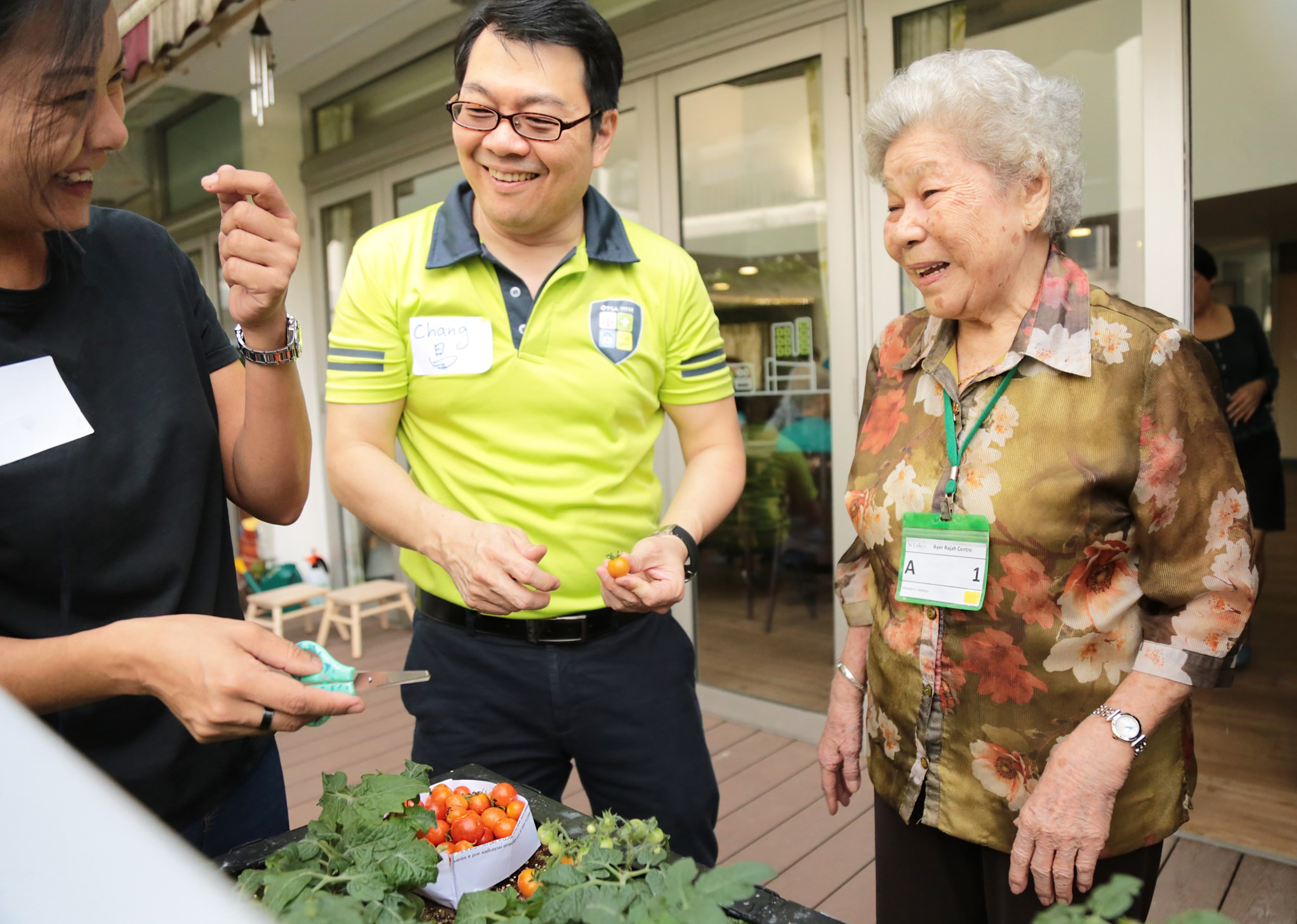 SLEC Food Garden at St Luke's ElderCare Ayer Rajah Centre